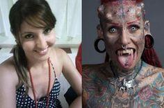 La mujer vampiro antes y despues María José Cristerna