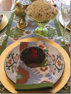 10 casual table settings on pinterest casual table for Table 52 thanksgiving