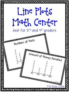 Line Plots can be so tricky for students to understand. Give them some more practice with this center. Comes with two different worksheets (each double-sided), so use the center twice!