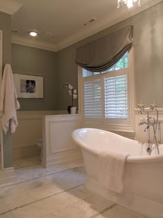 Bathroom decor for your bathroom renovation. Discover bathroom organization, master bathroom decor a few ideas, master bathroom tile suggestions, bathroom paint colors, and much more. Bathroom Window Dressing, Bathroom Windows, Bathroom Interior, Bathroom Blinds, Industrial Bathroom, Bathroom Mirrors, Bathroom Cabinets, Family Bathroom, Small Bathroom