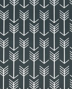 Modern Outdoor Arrow Indian Dark Grey Print Fabric                              …