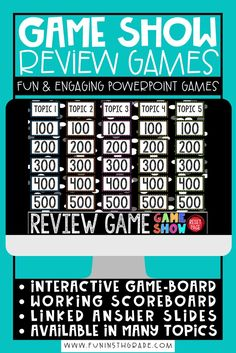 Any topic can be FUN for students to learn and practice with these highly engaging Game Show PowerPoint! These games will make practicing ANY SKILL something students are EXCITED to do! My class CHEERS when they see this game in the plans. PERFECT for review! Available in a variety of topics and adding new ones everyday!