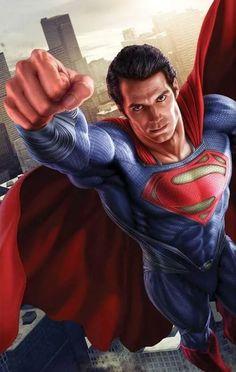 Superman - Man of Steel Art. I love Superman! Batman Vs Superman, Poster Superman, Posters Batman, Superman Henry Cavill, Poster Marvel, Superman Man Of Steel, Superman Artwork, Superman Stuff, Captain Marvel