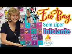Eco Bag - Use seus retalhos - Não é patchwork! - YouTube Tutorial Diy, Patches, Pouch, Lol, Youtube, Quilts, Embroidery, Sewing, Scraps Quilt