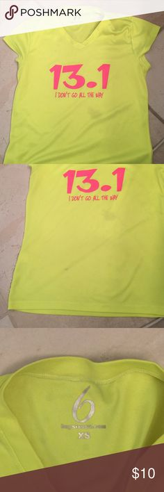 Neon running shirt Two small grease spots. Not visible when on. Tops