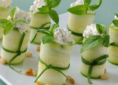 Rulouri de zucchini cu branza feta