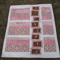 Heather Ross Far Far Away - Western Girl Plush Minky Quilt. via Etsy. Western Quilts, Heather Ross, Blind Stitch, Western Girl, Toddler Blanket, Fabric Yarn, Doll Quilt, Vintage Quilts, Quilt Making