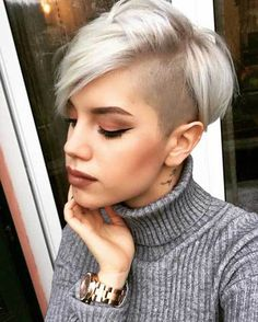 25 Good-Looking Short Haircuts: #17. Shaved Side Long Pixie; #shorthair; #longpixie; #pixie; #pixiecut; #shavedhead