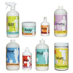 All-natural cleanliness with 100% chemical-free products for home and pets