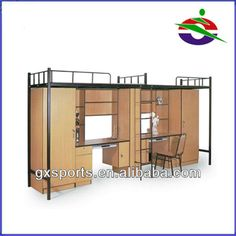 High Shool Dormotory Student Bunk Beds With Desk And Wardrobe - Buy Bunk Bed…