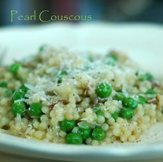 Pearl-couscous-risotto / could try this sans the pancetta