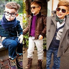 Kids fashion, baby hipster, boy style