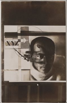 """El Lissitzky. Self-Portrait. 1924. Gelatin silver print, 3 x 3 3/8"""" (7.6 x 8.5 cm). The Museum of Modern Art, New York. Thomas Walther Collection. Purchase. © 2011 Artists Rights Society (ARS), New York/VG Bild-Kunst, Bonn"""