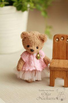 Teddy bear handmade.  Fair Masters - handmade.  Buy Sara (9 cm.).  Leilk144 Handmade.  Brown bears