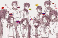 ASEAN 10 family!! (/OwO)/  #hetalia  #ASEANfamily
