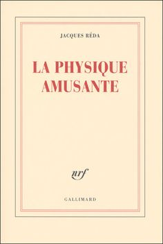 there's a simple esthetics to the covers of Gallimard's NRF collection that makes any book look appealing by the look of the cover. Though Jacques Réda's poetry hardly needs a helping hand to sell itself.