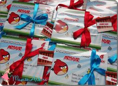Convites - Angry Birds #party #festa #convite #mamaearteira