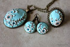 Hand sculpted Polymer Clay Statement Jewelry by CharanCreations.deviantart.com on @DeviantArt