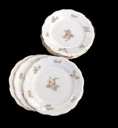 Vintage Haviland China Bread and Butter Plates Johann Haviland Sepia Rose Pattern Set of 6 Plus 1 Bavaria Replacement China Floral Pattern by MerrilyVerilyVintage on Etsy https://www.etsy.com/listing/519240265/vintage-haviland-china-bread-and-butter