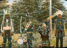 Ojibwa men - (color tinted) circa 1925 Native American History, American Indians, Native Place, First Humans, Native Indian, First Nations, Nativity, North America, Minnesota