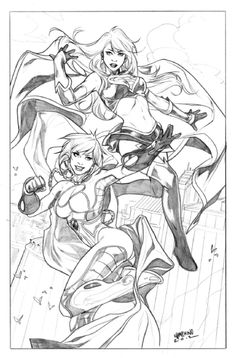 Power Girl & Supergirl by Emanuela Lupacchino