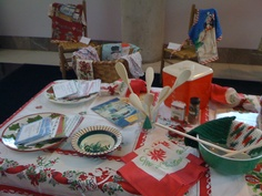 Vintage Christmas Cooking display (from my collection.)