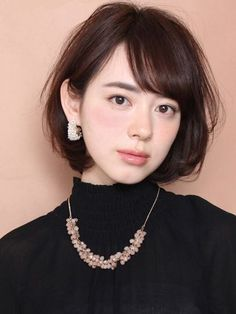 62 Ideas Haircut Inspiration Medium For Women Short Bob Hairstyles, Hairstyles Haircuts, Girl Short Hair, Short Hair Cuts, Japan Hairstyle, Medium Hair Styles, Long Hair Styles, Shot Hair Styles, Hair Arrange