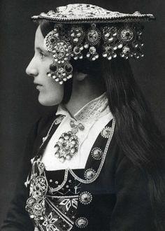 A Norwegian Bride wears a silver wedding crown by Per Braaten 1935