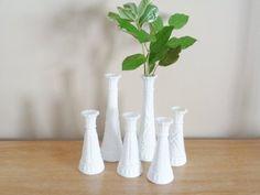 Bridal Shower, Baby Shower, Milk Glass Vase, Bud Vases, My Etsy Shop, Check, Pattern, Pink, Vintage