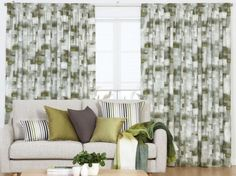 An abstract patterned thermal curtain featuring soft brush strokes in a grid pattern with light to dark tones. Pleated Curtains, Pencil Pleat, Thermal Curtains, Abstract Pattern, Throw Pillows, Bed, Home Decor, Ruffle Curtains, Toss Pillows
