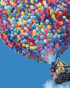 The 36 best paint by number kits images on pinterest color by paint by number kit plaid hot air balloon 16x20 fun new do it yourself hobby solutioingenieria Images