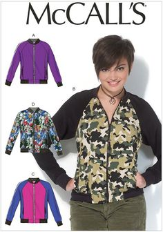 Misses Jackets McCalls Sewing Pattern No. 7100.