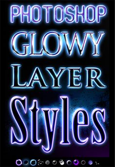 This free set of Photoshop layer styles includes 13 different effects you can apply to text to give it a ghostly glow.
