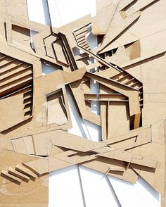 Spatial model of an abstracted drawing produced to identify intersections between instutions, living spaces, cities : @mclintock5