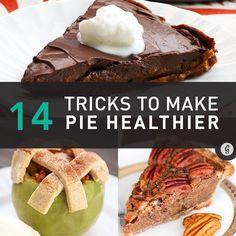 14 Tricks for Healthier Pies (and Our Favorite Recipes) #dessert #recipes #pie