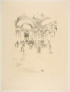 James McNeill Whistler (American, 1834–1903). The Long Gallery, Louvre, 1894. The Metropolitan Museum of Art, New York. Harris Brisbane Dick Fund, 1917 (17.3.198)