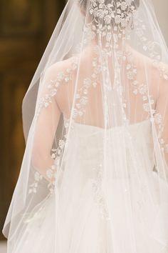 Embroidered Bridal Veil