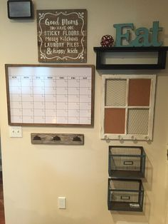 Command Center And Organization For Any Room.... This Is In The Kitchen