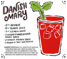 Friday Happy Hour: The Danish Mary | Illustration: Shauna Lynn for Oh So Beautiful Paper