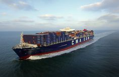blue and red cargo ship the sky The ship A container ship On The Go CMA CGM Corte Real Jet Ski, Cma Cgm, Freight Forwarder, Cargo Services, Tall Ships, That Way, Transportation, Sailing, Ocean