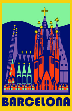 BARCELONA Beautiful - Vintage Retro Travel Poster canvas printing wall decor print home decor printable prints art print photo magnets Illustrations Vintage, Illustrations Posters, Vintage Advertisements, Vintage Ads, Barcelona Travel, Barcelona Spain, Visit Barcelona, Tourism Poster, Travel Cards