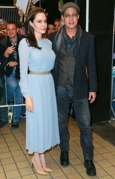 """d73fe57e5ea8 Angelina Jolie and Debby Ryan in Stuart Weitzman """"Heist"""" Pumps ..."""
