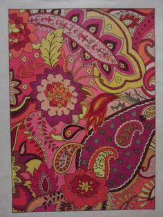 Aimee Harper, Warm Paisley  (18+ division) entry submitted to the Dover All-Ages coloring contest back in 2012. Prismacolor premiere soft-core pencils, all 'warm' colors. On plain paper.