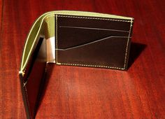 Madison leather bifold wallet