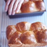 Brioche buns and loaf.