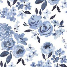 Highland Floral Wallpaper – Caitlin Wilson Blue And White Wallpaper, Floral Wallpaper Iphone, Floral Pattern Wallpaper, Flowery Wallpaper, Watercolor Wallpaper, Cute Patterns Wallpaper, Aesthetic Iphone Wallpaper, Hd Flower Wallpaper, Flower Backgrounds