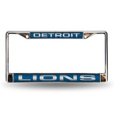 Detroit Lions Laser Chrome Frame #DetroitLions