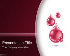 Free blood PowerPoint template background for Diabetes PPT template or blood donation PowerPoint