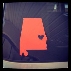 Auburn State of Alabama Car Decal on Etsy, $12.00