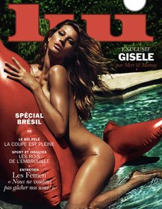With a smokin' hot body like that, who can blame Gisele Bundchen for going skinny dipping in the pool! The Brazilian model sizzled on the cover of Lui magazine's latest issue, showing off her figure while straddling an inflatable pool toy. The bombshell took a page out of Rihanna's book, who posed topless for the French adult magazine last month ...